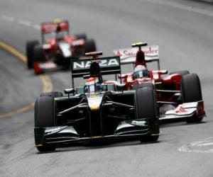 Rompicapo di Jarno Trulli - Lotus - Monte-Carlo 2010