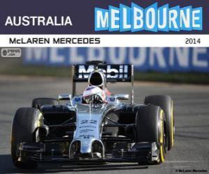 Rompicapo di Jenson Button - McLaren - Gran Premio d'Australia 2014, 3 ° classificato