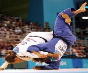 Rompicapo di Judo - Due lottatori di judo pratichant