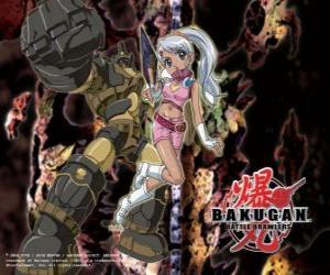 Rompicapo di Julie e il suo Gorem Subterra Guardian Bakugan