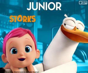 Rompicapo di Junior, la cicogna protagonista