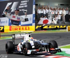 Rompicapo di Kamui Kobayashi - Sauber - Gran Premio del Giappone 2012, 3 ° classificato