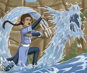 Rompicapo di Katara è una potente maestra dell'acqua che accompagna Aang e suo fratello Sokka