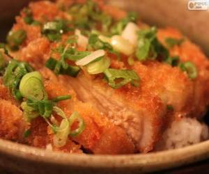 Rompicapo di Katsudon, piatto giapponese