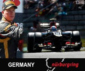 Rompicapo di Kimi Räikkönen - Lotus - Gran Premio Germania 2013, 2º classificato