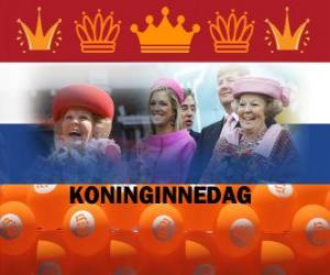 Rompicapo di Koninginnedag o Giorno della Regina, festa nazionale nei Paesi Bassi il 30 aprile per festeggiare il compleanno della Regina