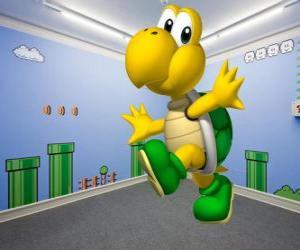 Rompicapo di Koopa Troopa, tartarughe bipedi sono nemici nei giochi di Mario