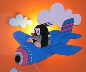 Rompicapo di Krtek in aereo