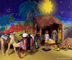 Rompicapo di L'Adorazione dei Magi dall'Oriente a Gesù Bambino