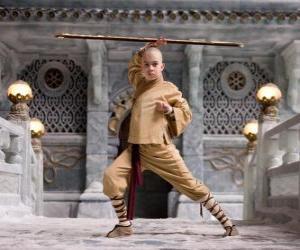 Rompicapo di L'avatar Aang è il protagonista principale dell'avventura e il suo destino è di dominare i quattro elementi: Aria, Acqua, Terra e Fuoco