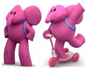 Rompicapo di L'elefante amichevole Elly è il più forte e aiuta sempre i suoi amici