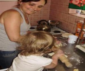 Rompicapo di L'insegnamento della nonna nipote di cucinare