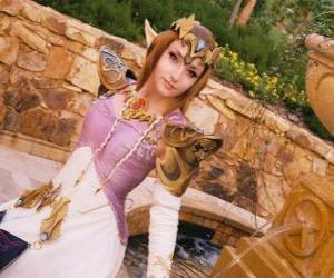 Rompicapo di La bella Principessa Zelda con una rosa in mano