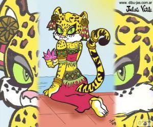 Rompicapo di La bella tigre. Disegno di Julieta Vitali