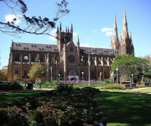 Rompicapo di La cattedrale metropolitana di Santa Maria, Sydney, Australia