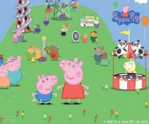 Rompicapo di La famiglia di Peppa Pig nel parco di attrazioni