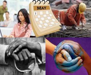Rompicapo di La Festa del lavoro, Festa dei lavoratori o Primo Maggio è la festa mondiale del movimento operaio. Tenutasi il 1 ° maggio in molti paesi