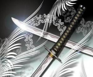 Rompicapo di La katana è l'arma più famosa di ninja e samurai