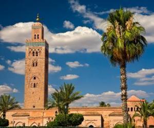 Rompicapo di La Moschea di Koutoubia, Marrakech, Marocco