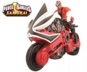 Rompicapo di La moto rossa, Power Ranger Samurai