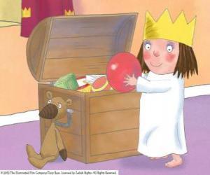 Rompicapo di La piccola principessa con i suoi giocattoli