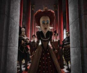 Rompicapo di La Regina Rossa (Helena Bonham Carter) è il dominatore tirannico degli Inferi.