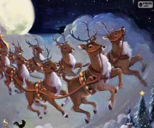 Rompicapo di La renna magica tirando la slitta