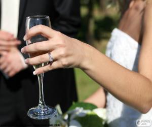 Rompicapo di La sposa bicchiere di champagne