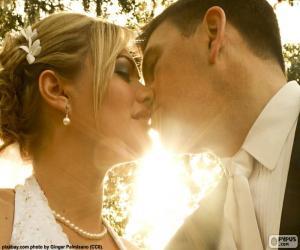 Rompicapo di La sposa e lo sposo di bacio