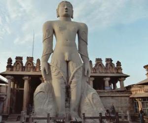 Rompicapo di La statua di Bahubali, noto anche come Gommateshvara, nel tempio Jain di Shravanabelagola, India