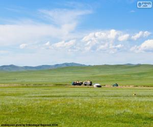 Rompicapo di La steppa della Mongolia