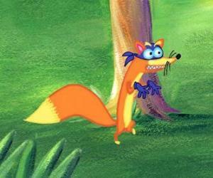 Rompicapo di La volpe Swiper è sempre cercando di rubare qualcosa a Dora