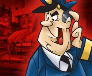 Rompicapo di L'agente Dibble, il poliziotto che si occupa di vicolo del Top Cat e la sua banda