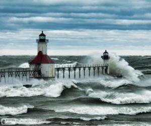 Rompicapo di Lago Michigan, USA