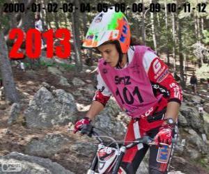 Rompicapo di Laia Sanz, campione del mondo trial 2013
