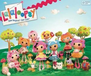 Rompicapo di Lalaloopsy, le bambole di pezza