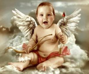Rompicapo di L'Angelo dil amore con un cuore e una freccia