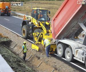 Rompicapo di Lavoratori che lavorano su un'autostrada