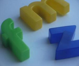 Rompicapo di Le lettere minuscole f, m y z