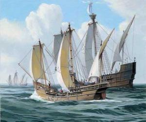 Rompicapo di Le navi del primo viaggio di Colombo era la nave Santa Maria, e le caravelle, la Pinta e la Nina