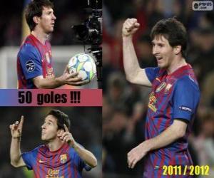 Rompicapo di Leo Messi, il miglior marcatore nella storia del campionato spagnolo, 2011-2012