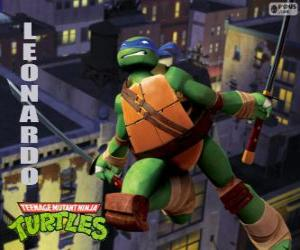 Rompicapo di Leonardo, la tartaruga ninja attaccano con katana