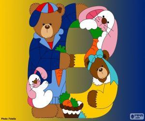 Rompicapo di Lettera B di orsi