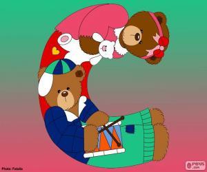 Rompicapo di Lettera C di orsi