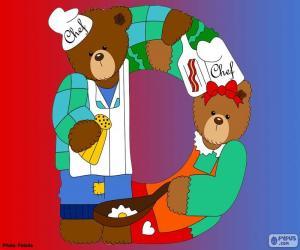 Rompicapo di Lettera D di orsi