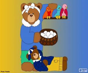Rompicapo di Lettera E di orsi