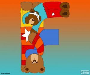 Rompicapo di Lettera F di orsi