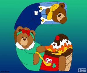 Rompicapo di Lettera G di orsi