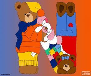 Rompicapo di Lettera N di orsi