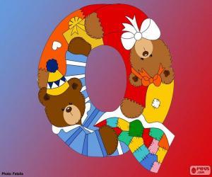 Rompicapo di Lettera Q di orsi